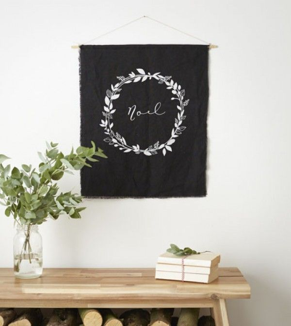 Modern Christmas wall hanging