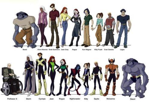 X-Men Evolution Character Art - Steve Gordon