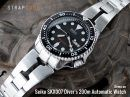 22mm Retro Razor 316L Stainless Steel Bracelet for SEIKO Diver SKX007/009/011 Curved End, Diver Clasp Brushed
