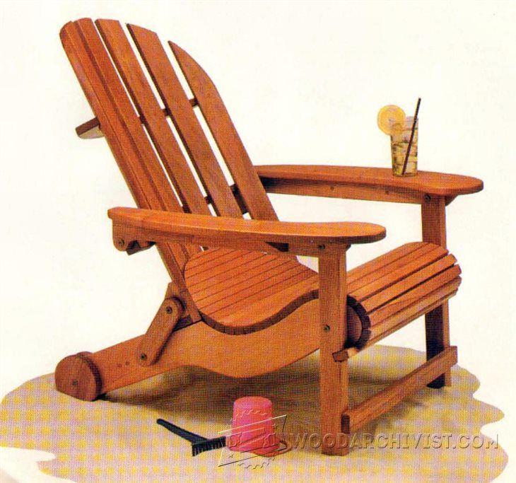 Folding Adirondack Chair Plans   Outdoor Furniture Plans U0026 Projects |  WoodArchivist.com