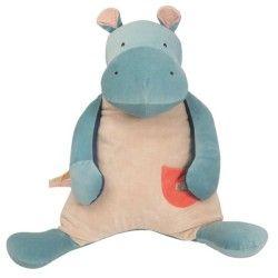 Peluche Hippopotame Les Papoum - 70 cm