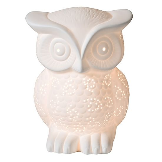 Part of the glow collection, the Owl Glow Lamp is elegant and fun.