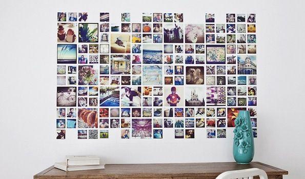 kreative fotowand ideen diy photo wall pinterest w nde fotowand ideen und fotos. Black Bedroom Furniture Sets. Home Design Ideas