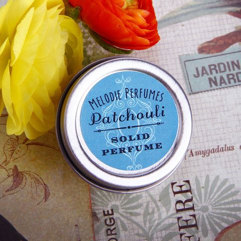 Patchouli solid perfume by MelodiePerfumes. Vegan. Essential Oil. Silky smooth application. Embrace your inner Earth Child!