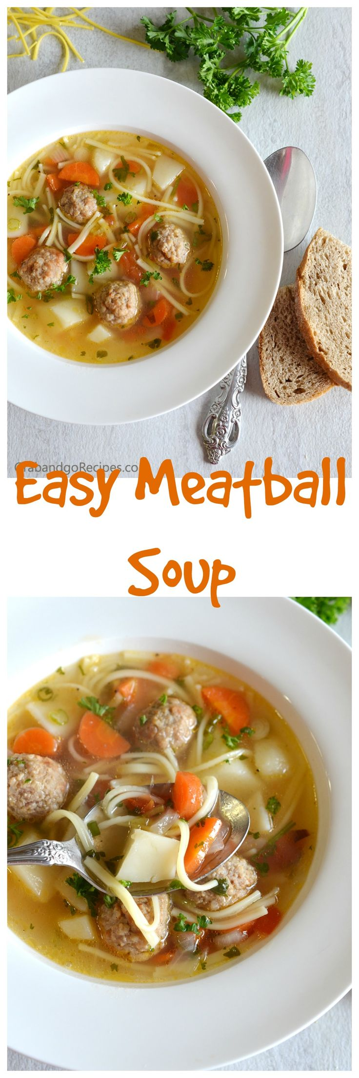 This Easy Weeknight Meatball Soup is a super quick and yet delicious. It turned out so yummy that became one of my favorite soups and yes I figured I'd better share the recipe.