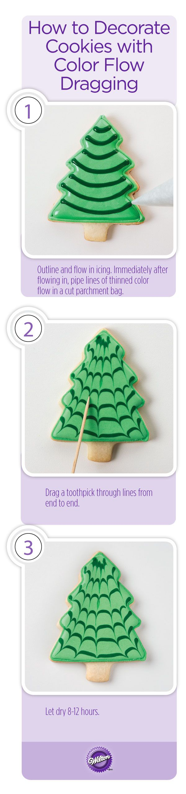 How to add detail and interest to decorated color flow cookies while still maintaining the smooth, sophisticated look.