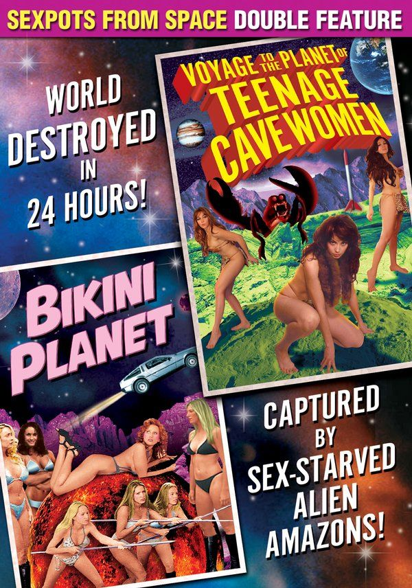Sexpots From Space Double Feature: Voyage To The Planet of Teenage Cavewomen/ Bikini Planet DVD-R (2002) Starring Conrad Brooks, Stephanie Beaton & Joshua Kennedy; Directed by Joshua Kennedy & Derek Zemrak; Alpha Video $5.95 on OLDIES.com