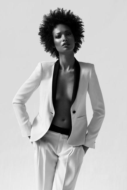 Yves Saint Laurent #YSL women #tuxedo