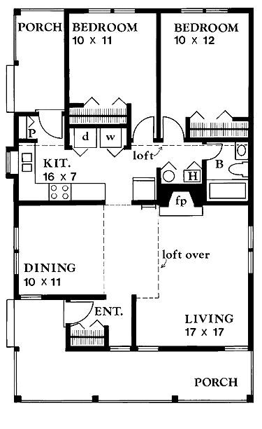Small House Floor Plans | Functional Small Floor Plans