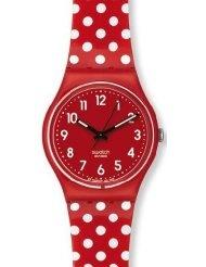 red polka dot watch