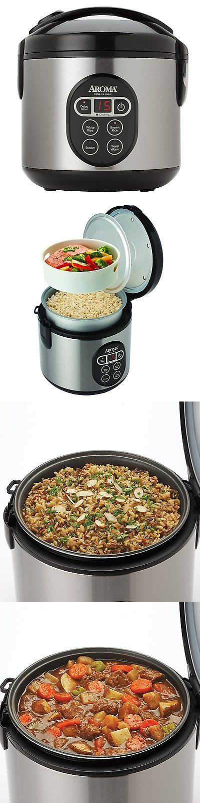 appliances: Aroma Digital Rice Cooker And Food Steamer, 4-Cup Uncooked, 8-Cup Cooked -> BUY IT NOW ONLY: $33.16 on eBay!