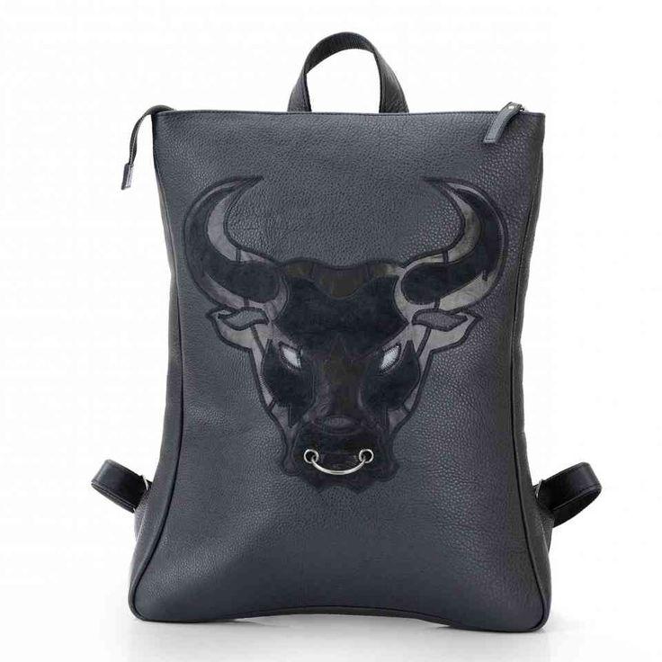 Рюкзак мужской кожаный черный / Рюкзак ручной работы / Рюкзаки мужские Leonid Titow
