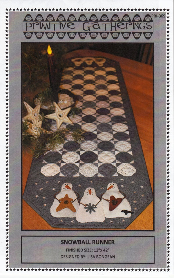Snowball Runner patternQuilt Christmas, Snowball Runners, Quilt Ideas, Quilt Tables, Tables Runners, Primitive Gatherings, Runners Pattern, Quilt Pattern, Primitives Gathering