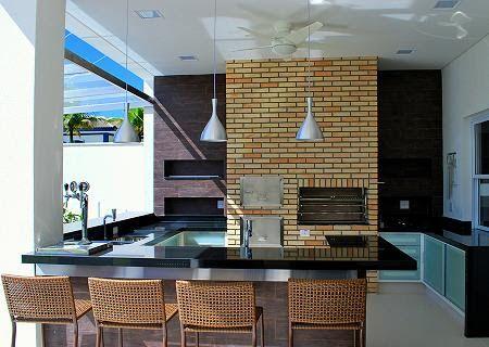 cozinha integrada com area gourmet