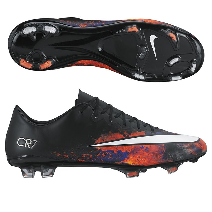 Nike Mercurial Vapor X FG Soccer Cleats (Black/Total Crimson/Metallic  Silver/White)