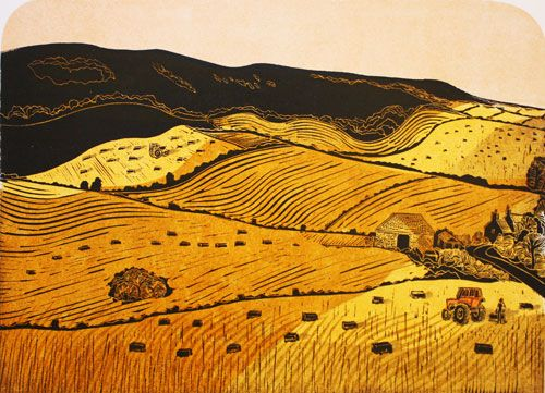 Harvesting (from Glyndebourne to Ringmer) A/P by Robert Tavener