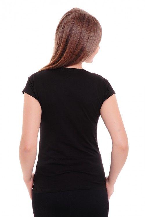 Футболка А4033 Размеры: 42,44,46 Цвет: черный Цена: 420 руб.  http://optom24.ru/futbolka-a4033/  #одежда #женщинам #футболки #оптом24