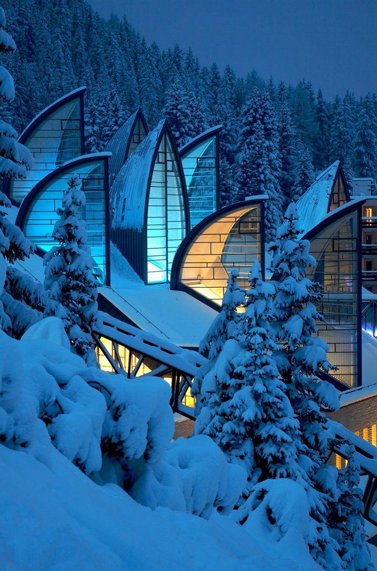 Tschuggen Bergoase Spa by Mario Botta #winter #skylight #roofscape