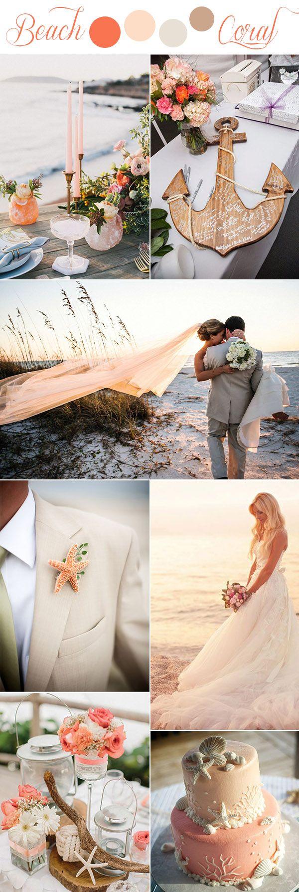 best beach wedding locations on budget%0A   Gorgeous Rustic Romantic and Elegant Wedding Ideas  u     Color Palettes  Beach  Themed WeddingsCoral