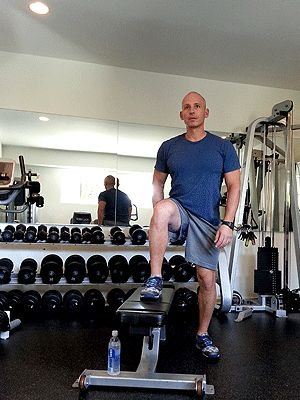 Step Across and 3  more Exercises for Better, Shapelier Legs from Harley Pasternak