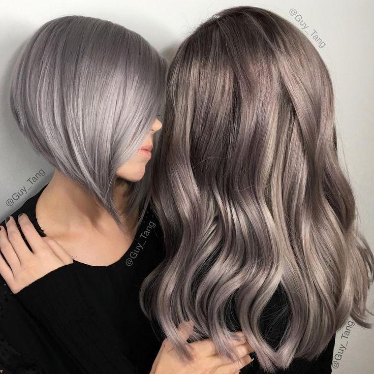 """#FiftyShadesOfGrey which color should I do on me? I like them both #metallicobsession @olaplex"""