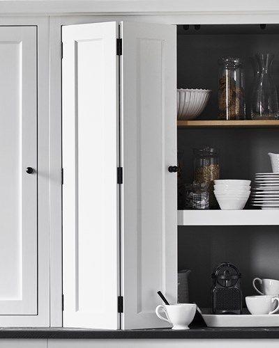 Countertop bi-fold cabinet