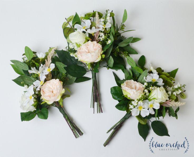 Boho Bridesmaid Bouquet - Bridesmaid Bouquet, Silk Bouquet, Greenery, Eucalyptus, Wildflower Bouquet, Wildflower Bridesmaid Bouquet, Rustic by blueorchidcreations on Etsy