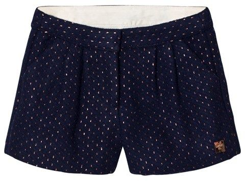 Carrément Beau Navy and Rose Gold Shorts