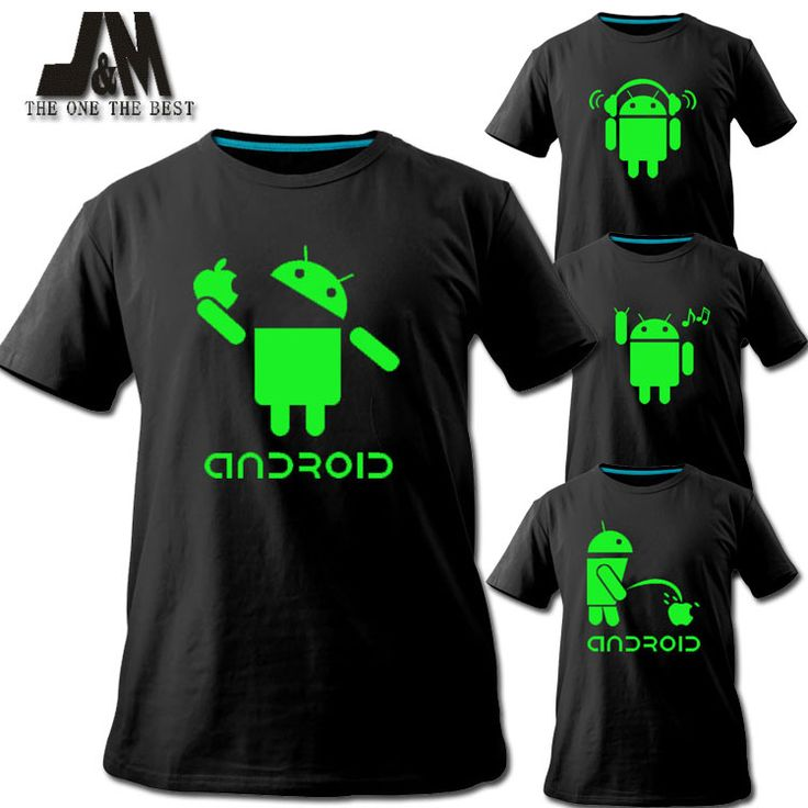 2016 men shirt Android logo sales promotion luminous T-shirt short tee fashion tshirt brand designs funny t shirt couple colthes