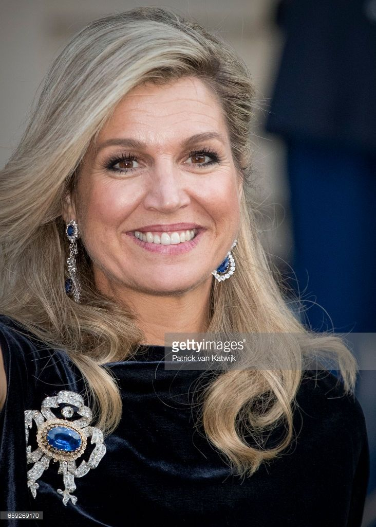 Queen Maxima of The Netherlands after the ballet performance offered by the President of Argentie at theater Dilligentia on March 28, 2017 in The Hague, The Netherlands. The President of Argentina is in the Netherlands for a two-day official state visit.