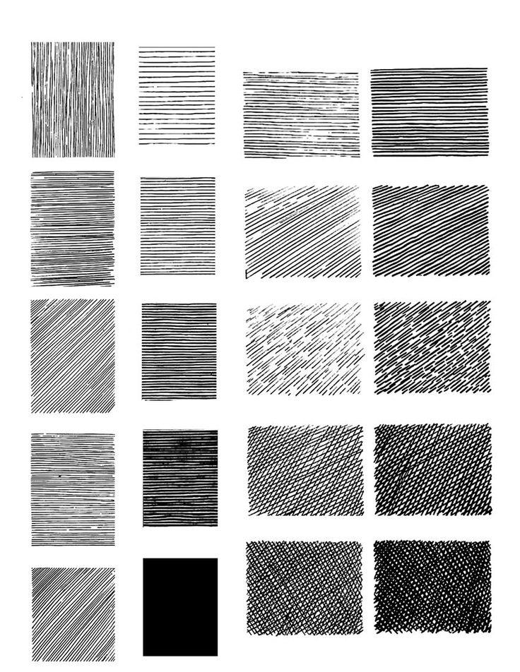 Técnica de la historieta. Este ejercicio consiste en tramas y achurados que se utilizan en el dibujo a tinta, entre más densos más oscuros, de esta manera se busca la valoración tonal.