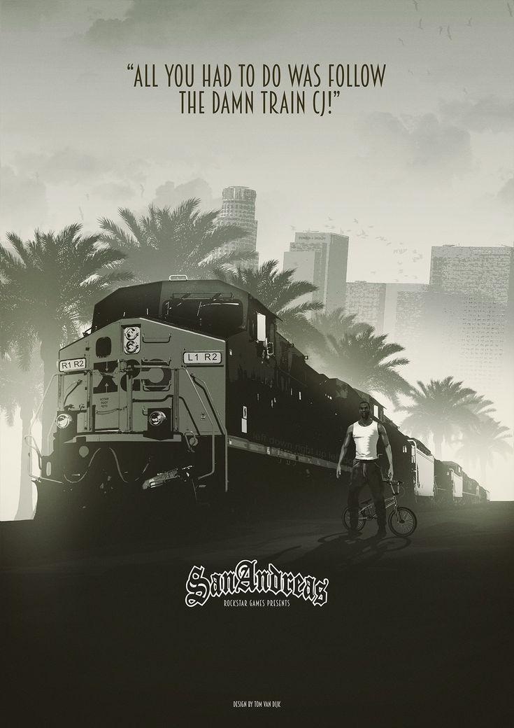Fan posters I did for Rockstar Games GTA series and a poster for Rockstar Games Red Dead Redemption.