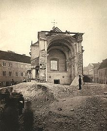 Demolición de templo católico en Vilnus en 1877.