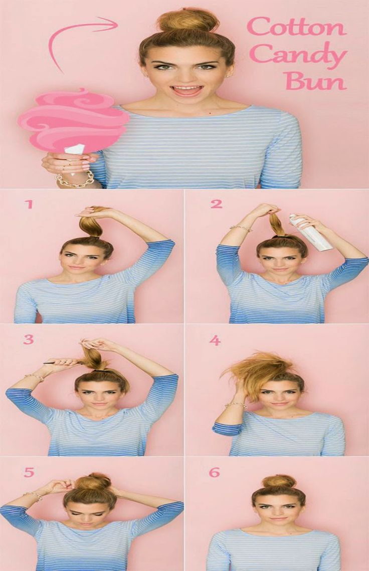 Para o primeiro passo:   # 1 Tente este rabo de cavalo torcido simples.   Proteja o seu cabelo em um rabo de cavalo alto.  Divida o seu...