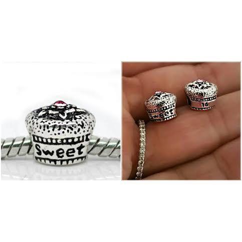 2602f064e Sweet 16 Birthday Gift Cake Pink CZ charm bead for Pandora Charm and  European Charm bracelet ...