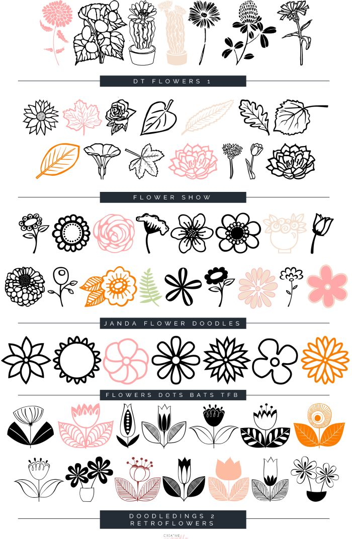 Ms de 25 ideas increbles sobre Flores para dibujar faciles en