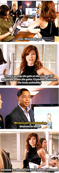 """Brooke Davis """"Anorexia is a disease, it is NOT a fashion statement"""" - Season 5 OTH Quote"""