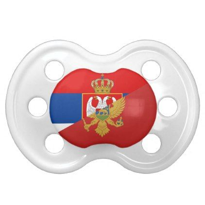 serbia montenegro flag country half symbol pacifier - country gifts style diy gift ideas