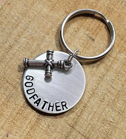 1000 ideer om godparent gifts p pinterest godfather keychain godparent gift baptism gift by msfabdesigns negle Gallery