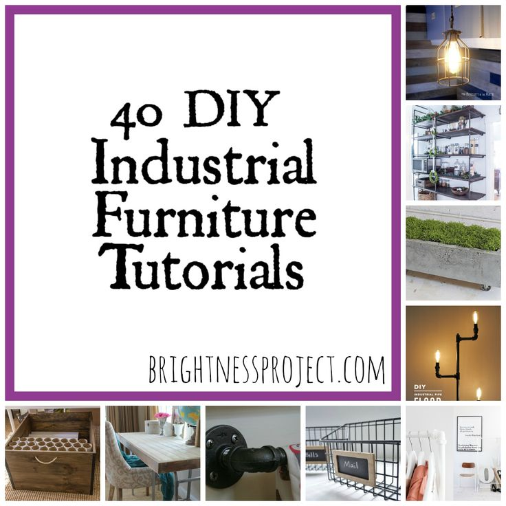 industrial furniture DIY #VintageIndustrialFurniture