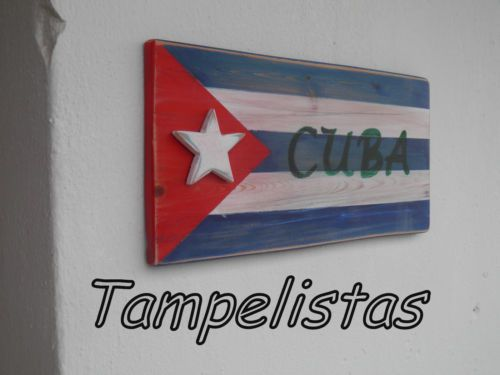 Cuba flag..handmade 3d wooden sign,wall decor,bar-pub decoration,vintage style
