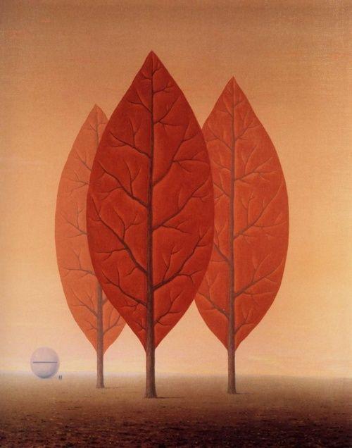 René Magritte - Les Princes de l'Automne, 1963