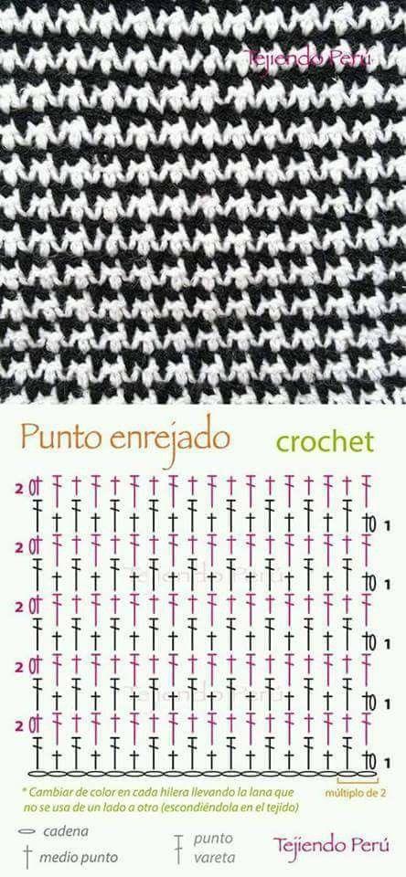 Mejores 150 imágenes de Puntos crochet en Pinterest | Puntadas de ...