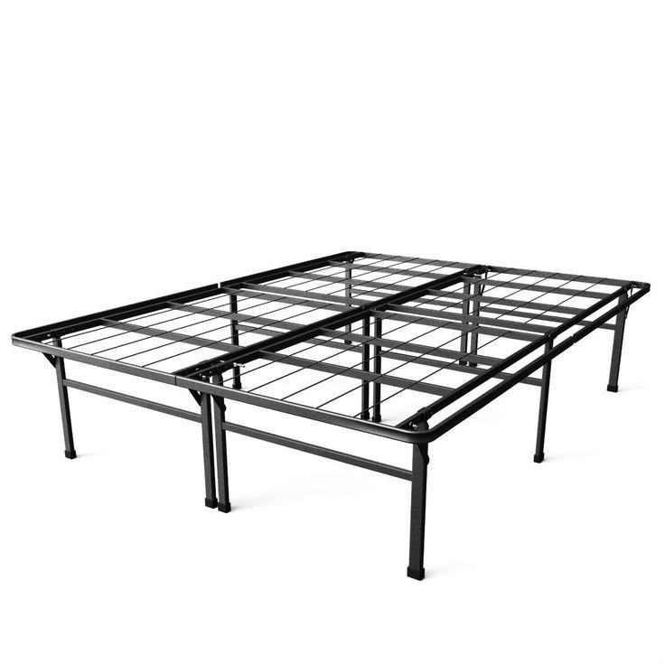 king size 18 inch high rise metal platform bed frame