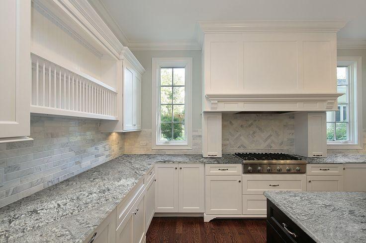 New Azul Aran Granite Kitchen Counter | http://www.marmol.com/product/new-azul-aran/