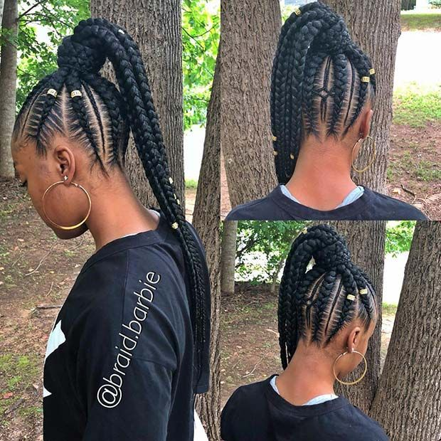 63 Best Braided Ponytail Hairstyles For 2020 Page 2 Of 6 Stayglam Braided Ponytail Hairstyles Hair Styles Braided Ponytail
