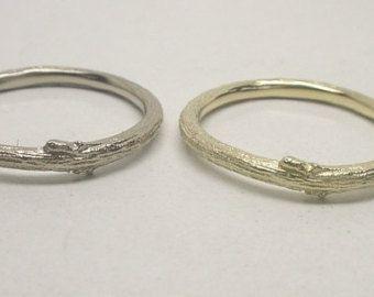 Anello oro Twig ramoscello Wedding Band anello del ramo