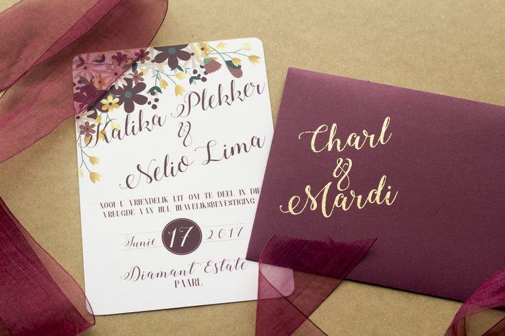 Floral design. Gold Foil. Wedding stationary. Elegance.@h_borcherds.