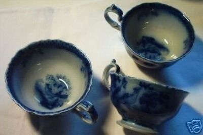 **India V + B Villeroy Boch FLOW blue cups plates** | #18575284