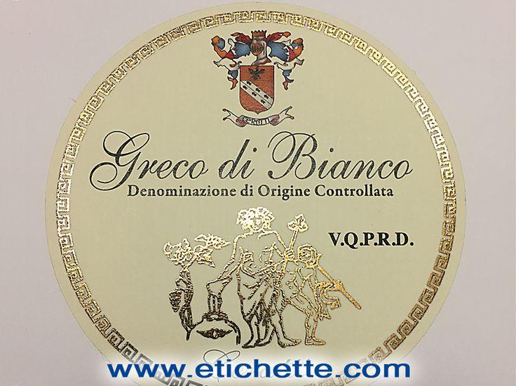 Etichetta per vino pregiato stampata utilizzando più tecniche di stampa compreso rilievo in oro a caldo